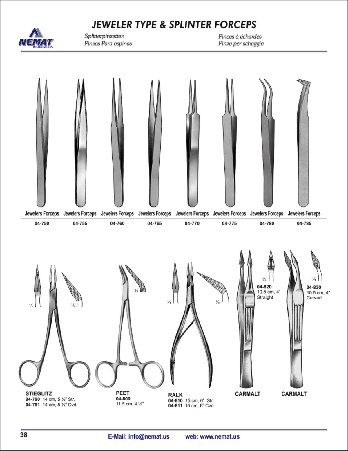 Nemat Instruments - A house of Medical Instruments for Forceps Types  34eri